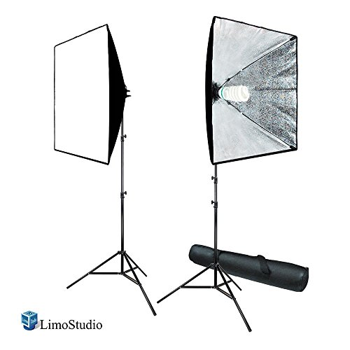 LimoStudio 700W Photography Softbox Light Lighting Kit Photo Equipment Soft Studio Light Softbox 24