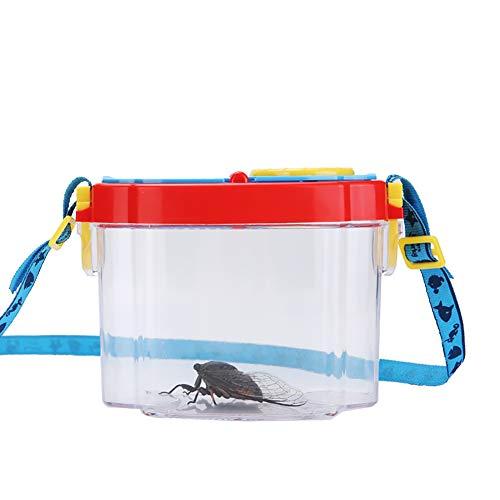 Asien 1PC Lupa Insectos envase de plástico Lupa Insectos Insecto Colección Visor de Aventura Caso Colección de inserción para niños