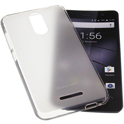 foto-kontor Tasche für Gigaset GS160 / GS170 GS170 Gummi TPU Schutz Handytasche transparent weiß