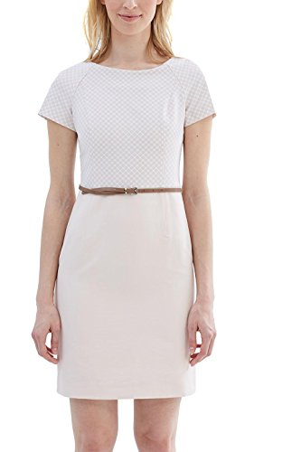 ESPRIT Collection Damen 997EO1E802 Kleid, Rosa (Nude 685), 38