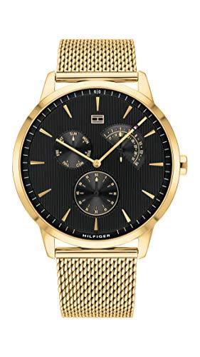 Tommy Hilfiger Herren Multi Zifferblatt Quarz Armbanduhr mit Edelstahlarmband