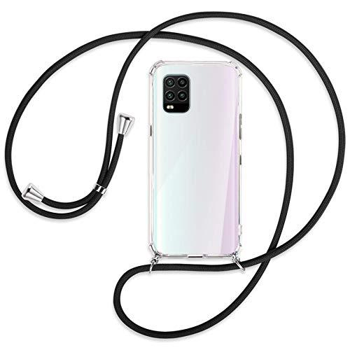mtb more energy Collana Smartphone per Xiaomi Mi 10 Lite 5G (6.57'') - Nero - Custodia indossabile per Collo - Cover a Tracolla con cordina
