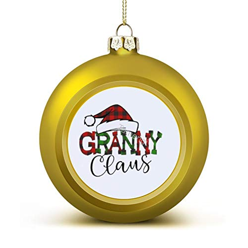 3 Inch Christmas Ornament, Granny Claus Xmas Ornaments, Keepsake Gift Memorial Peace & Happiness Christmas Decorations