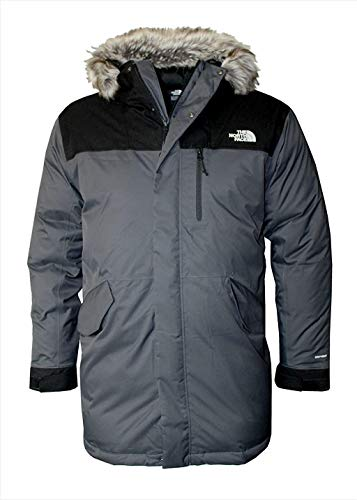 The North Face Bedford Men's Down Jacket Winter Parka (Asphalt Grey/Asphalt Grey, L)