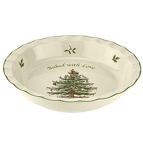 Spode Christmas Tree 11' Pie Dish 'Baked with Love'