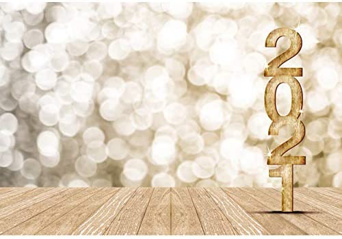 Happy New Year Photography Background 8x6.5ft Festive Colorful Fireworks Backdrop Blur Xmas Lights Bokeh Halos Carnival Dance Party Holiday Christmas Birthday Photo Prop Studio Decor