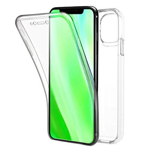 TBOC Cover per Apple iPhone 11 [6.1 Pollici] - Custodia [Trasparente] Completa Copertura Integrale [Silicone TPU] Protezione Totale [360 Gradi] Full Body Anteriore Posteriore Sottile