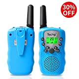 Techip Walkie Talkies for Kids, Walkie Talkies Two-Way Radios with 22 Channels Portable FRS/GMRS Handheld Mini Kids Walkie Talkies Long Range 3.1 Miles (1 Pair)