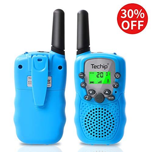 Techip Walkie Talkies for Kids, Walkie Talkies Two-Way Radios with 22 Channels Portable FRS/GMRS Handheld Mini Kids Walkie Talkies Long Range 3.1 Miles (1 Pair)