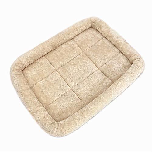 XSHIYQ Hundepolster-Bettmatte Waschbare Kistenmatratze rutschfeste Haustiermatte Hundekissen Waschbare Haustiermatratze S 45 x 35 cm Cream