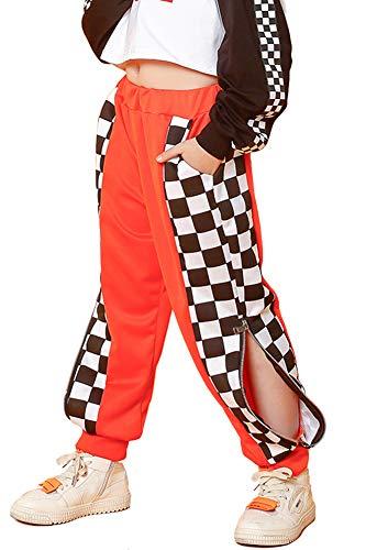 Rolanko Pantalones deportivos para nias Hip Hop Streetwear para danza, chicos con cordn