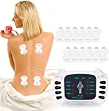 Tens Unit Muscle Stimulator with 8 Modes 12 Pads,TENS Machine for Back Pain and Neck Pain Relief,Dual Channel Rechargeable Physical Therapy Equipment