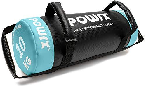 POWRX - Sandbag 5 kg, 10 kg, 15 kg, 20 kg, 25 kg, 30 kg - Perfetta per Migliorare Equilibrio, Forza, flessibilità, coordinazione e circolazione - Power Bag (5 kg/Giallo)