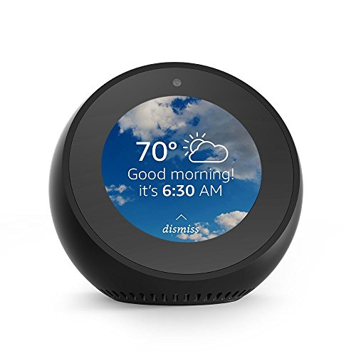 Echo Spot - Smart Alarm Clock with Alexa - Black