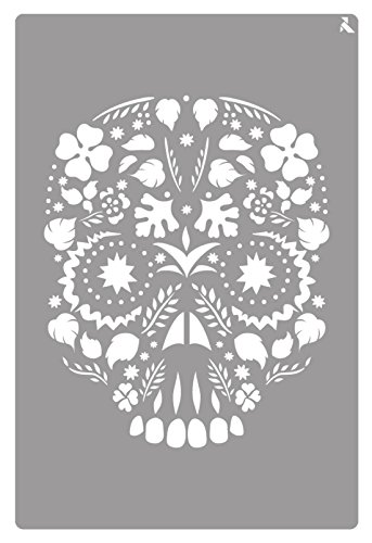 De vlinderdas 090015 C st-15 Skull Stencil