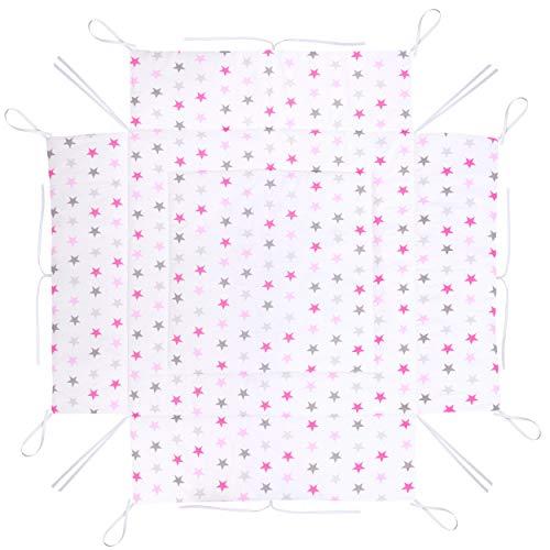Amilian Laufstalleinlage Laufgittereinlage Schutzeinlage Baumwolle für Laufställe Laufstall Spielstall 100 x 100 cm LAU03