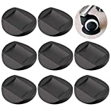 Furniture Cups - Bed Stopper, Rubber Furniture Coasters Cups with Anti-Sliding Floor Grip fits to All Floors & Wheels of Furniture, Sofas, Beds, Chairs, Prevents Scratches, Black (Set of 8) (Round)