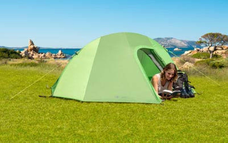 Mountain Guide Trekkingzelt NOLA II Alu Campingzelt Wandern Zelt Festival WS6000mm Moskitonetz grün