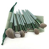 メイクブラシ 13本セット グリーン化粧筆 厳選した極細毛をたっ...