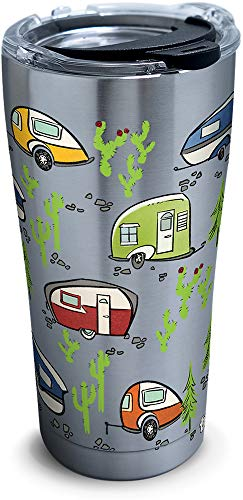 Product Image 1: Tervis Retro Camping Stainless Steel Insulated Tumbler with Lid, 20 oz, Silver