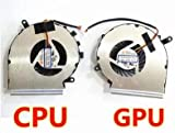 Wangpeng® générique de remplacement pour MSI GE62GL62GE72GL72GP62GP72PE60PE70refroidissement ventilateur de processeur graphique avec ventilateur de processeur Paad06015sl ventilateur de processeur + GPU ventilateur Compatible pour ordinateur portable ventilateur