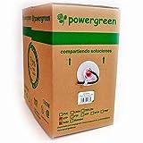 Powergreen CAB-05305-EFT Bobina de Cable Cat 5E FTP 305 Metros Exterior Caja 24 Awg