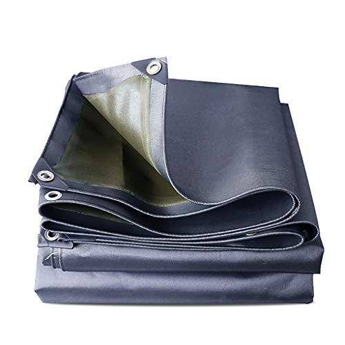 Alysays - Lona gruesa impermeable para exteriores, tela para balcón, poncho, cubierta para cobertizos, 550 g/metro cuadrado, varios tamaños (color: 3 m x 3 m)