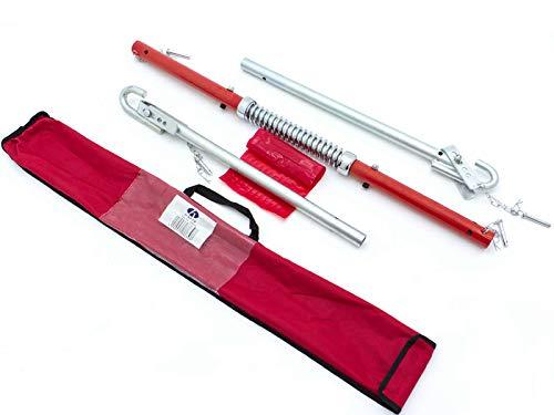 HAFIX 3 TLG. Abschleppstange Pannenhilfe mit Federdämpfung mit Tragfähigkeit bis zu 2 Tonnen 1,85m mit Tragetasche.
