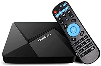 Android TV Box 7.1, Dolamee 2GB RAM 16GB ROM Streaming Media Player Smart TV Box Amlogic S905 Quad Core Bulit in BT 4.0 Support 2.4G WiFi 4K 3D for Home Entertainment