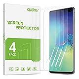 apiker 【4 Stück】 TPU Schutzfolie Bildschirmschutzfolie für Samsung Galaxy S10 Plus, [Anti-Kratzen], [Anti-Öl], [Anti-Bläschen], [Hohe Definition], [Hohe Empfindlichkeit]