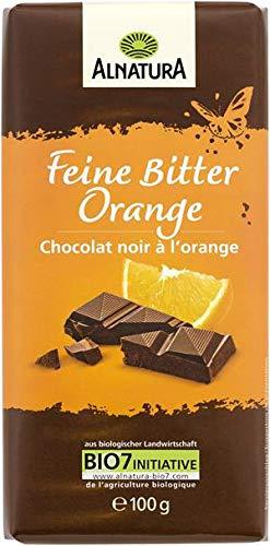 Alnatura Feine Bitter Orange (Vegane Schokolade laktosefrei mit Orange) 100g