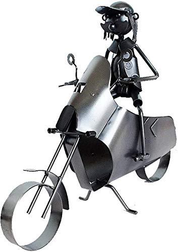 Vino Bastidores, simple y creativo de la motocicleta del estilo del estante del vino Productos artesanales de metal la decoración del hogar hechos a mano titular de la botella de vino vino escultura d