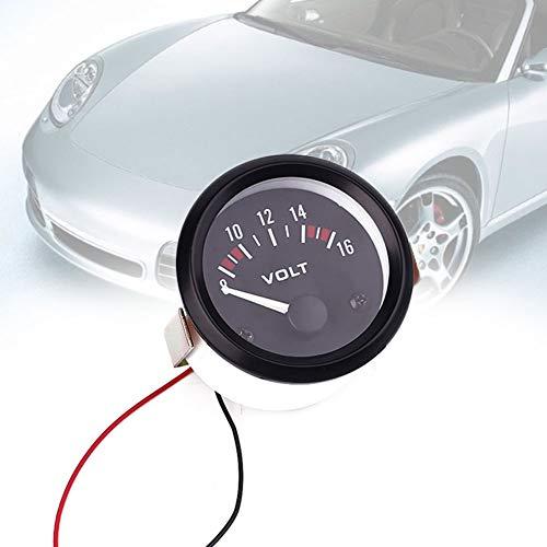 Wlgreatsp - Panel de voltímetro Digital para Coche, CC 8-16 V, LED, 1 x 52 mm, 12 V-24 V CC