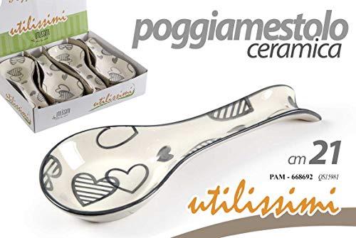 POGGIA MESTOLO POGGIAMESTOLO in Ceramica Decoro Cuore Dimensione 21 CM 668692