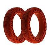 Flycoo2 - Neumáticos de color sólido celular para Xiaomi M365 / Pro patinete eléctrico 8 1/2x2 8.5 Neumáticos de repuesto antideslizantes delanteras traseras (rojo)