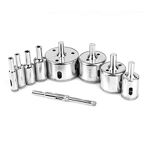 JIALIUJ 10PCS/Set 6-50mm Diamond Coated Core Hole Saw Drill Bits Tool Cutter for Tiles Marble Glass Granite Drilling Best Price