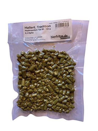 Hallertauer Tradition | Aromahopfen | Hopfenpellets Typ 90 | 100 Gramm | zum Bier brauen