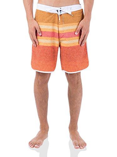 Hurley Herren Boardshorts Phantom Warp 3, Neon Orange, 34