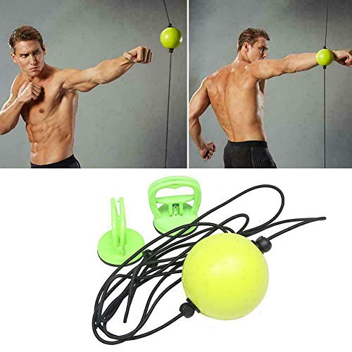 YOUNGL Boxing Speed Ball, Fitness Training Gym Hanging PU Leather Fitness Training, Sports Equipment Suction Cup Round Bodybuilding Punch Bag Reflex Noise Control Decompression
