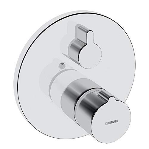 Hansa 88629045 Fertigmontageset / Wannen-Thermostat-Batterie   mit integrierter keramischer Mengenregulierung, schrom