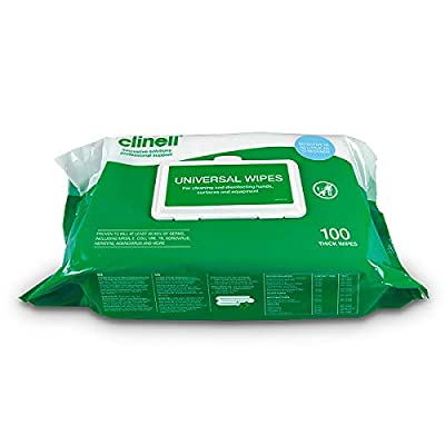 Clinell Universal Sanitising Wipes Flowpack (NEW 100 pack) - NHS Approved from Magnum Tattoo Supplies