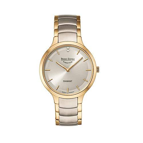 Bruno Söhnle Damen Analog Quarz Uhr mit Edelstahl Armband 17-23189-292