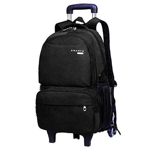MITOWERMI Rolling Backpack for Boys Wheeled Bag Durable Elementary School Bags Travel Carry-on Kids' Luggage