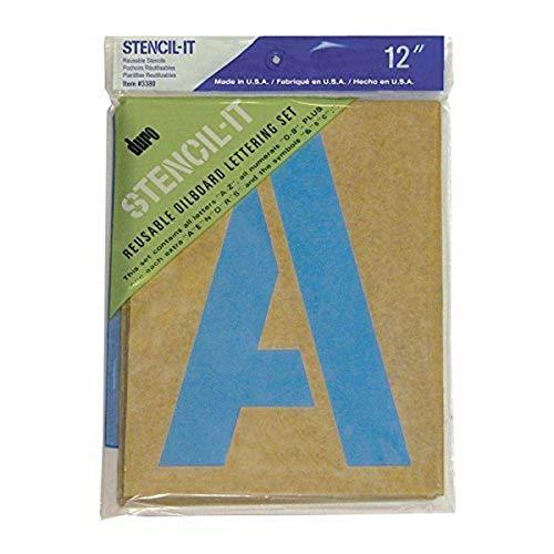 Duro Stencil-It Schablonen-Set für Ölbrett, 30,5 cm