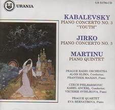 Kabalevsky : Piano Concerto 3 / Jirko : Piano Concerto No 3 /  Martinu : Piano Quintet