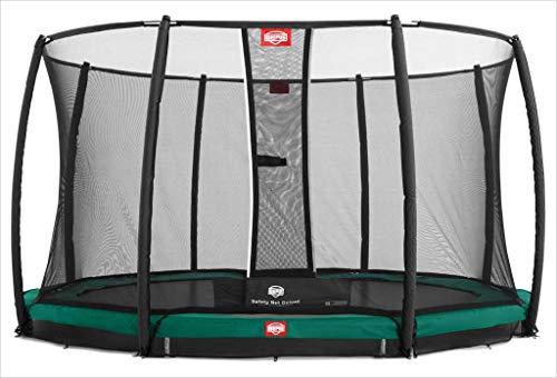 BERG Trampoline Inground Champion ronde 430 met veiligheidsbehuizing Net Deluxe | Premium trampoline, kindertrampoline, langere levensduur, spring hoger met TwinSpring en Airflow