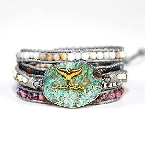 WLLLTY Ladies Bracelet Ladies Fashion Haiyang Stone Bracelet Couple Gift Charm Ladies Bracelet