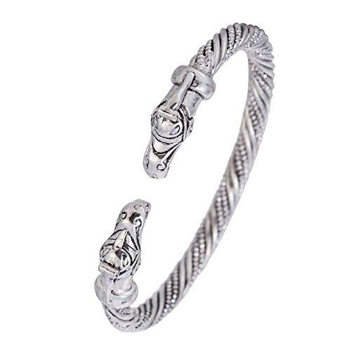 My Shape Handgefertigter Armreifen, Armband Armspange, für Damen und Herren, Spitzenqualität, Heiden-, Wikinger-, Drachen-Design, tolles Geschenk