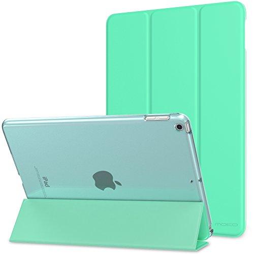 """MoKo Smart Cover per iPad 9.7"""" 6 Generazione 2018/2017, Ultra Sottile Leggero Custodia con Funzione di Auto Sveglia/Sonno con Retro Semi-trasparente Rigido per Apple iPad 9.7,Verde Menta"""