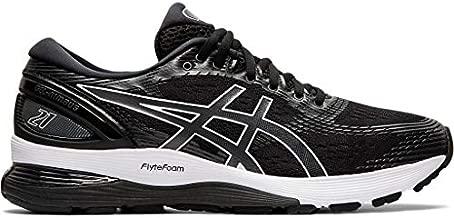 ASICS Women's Gel-Nimbus 21 Running Shoes, 8.5M, Black/Dark Grey